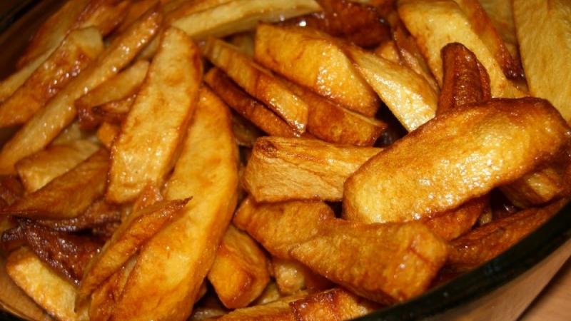Cartofi prajiti in ulei de cocos